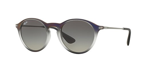 Ray-Ban INJECTED UNISEX SUNGLASS - VIOLET SHOT ON BLACK Frame LIGHT GREY GRADIENT GREY Lenses 49mm - Violet Ban Ray