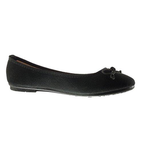 883 Angkorly 89 Plano Cm Tacn Trenzado Nodo T Moda Mujer Zapatillas Negro Taln 1 on Bailarinas Slip 38 RAcF4SwpRq