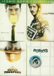Iconic Movie Collection- Office Space, Raising Arizona, Super Troopers, Porky's
