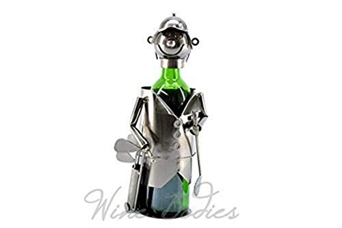 Ky & Co YesKela Wine Bottle Holder Golfer W/Bag Character Wine Caddy 13.5