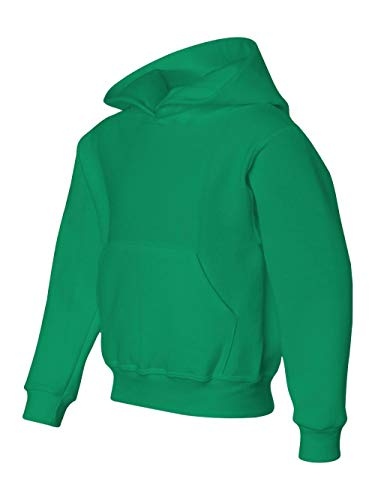 Shirt Kids Girls Kellys - Jerzees Youth NuBlend Hooded Pullover Sweatshirt (Kelly) (X-Large)