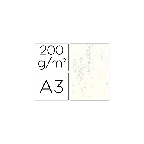 Marbled Card DIN A3 200 g Clear Cream Pack of 100 H. LIDERPAPEL 35086