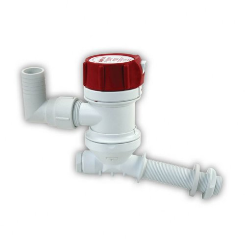 Rule 401C Marine Tournament Series 500 Livewell Pump (Angled Thru Hull Fitting, 12-Volt) - Tournament Series