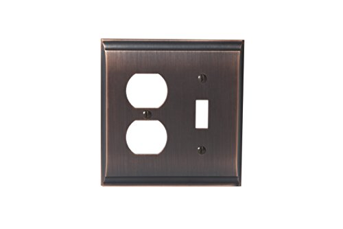 - Amerock BP36510ORB Candler 1 Toggle, 1 Receptacle Wall Plate - Oil-Rubbed Bronze