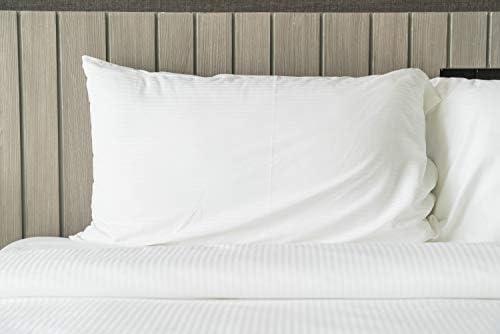 Tejidos Reina Pack 2 Fundas de Cojín Florencia 220 Hilos 100% algodón Blanco (50 cm x 30 cm): Amazon.es: Hogar