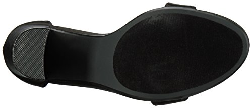 Steve Madden Carrson, Zapatos de Tacón con Punta Abierta Para Mujer Negro Satinado