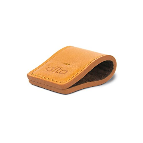 (alto Handmade Premium Italian Leather Smart Holder Bill clip Magnetic keychain Cable Straps (Light Brown))