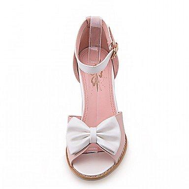 LvYuan Mujer Sandalias Semicuero PU Verano Otoño Paseo Pajarita Tacón Robusto Blanco Azul Rosa 5 - 7 cms blushing pink