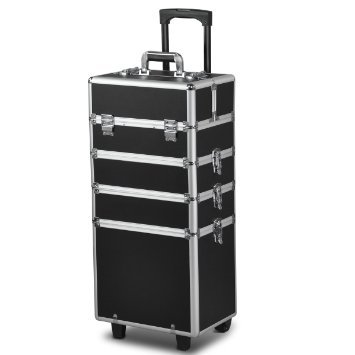 AZBEAUTY 4 in 1 Makeup Trolley, Black