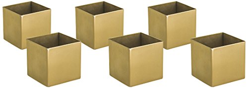 Front of the House ASC017G0S22 Canvas Square Ramekin, Matte Brass, 2