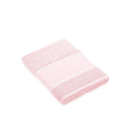 Toalla tocador rosa pastel para bordar a punto de cruz