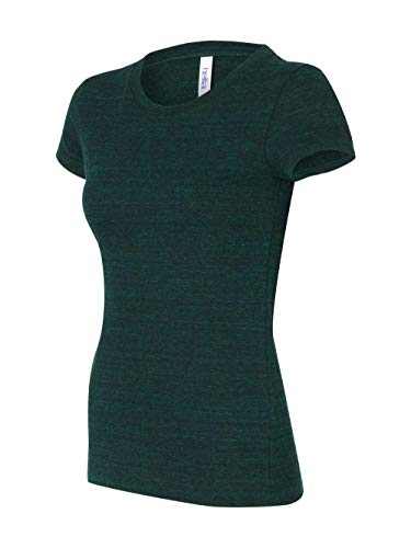 Bella Ladies' Cameron Tri-Blend Short Sleeve T-Shirt. 8413 - Medium - Emerald Heather