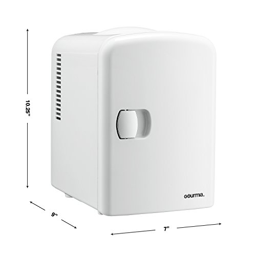 Gourmia GMF600 Thermoelectric Mini Fridge Cooler and Warmer - 4 Liter/6 Can - For Home,Office, Car, Dorm or Boat - Compact & Portable - AC & DC Power Cords - White by Gourmia (Image #8)