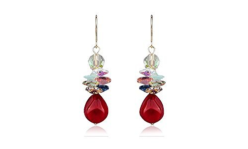 Dangle Earrings Red Grapes Water Drop - Mall of Style (Grapes Wine Red) -