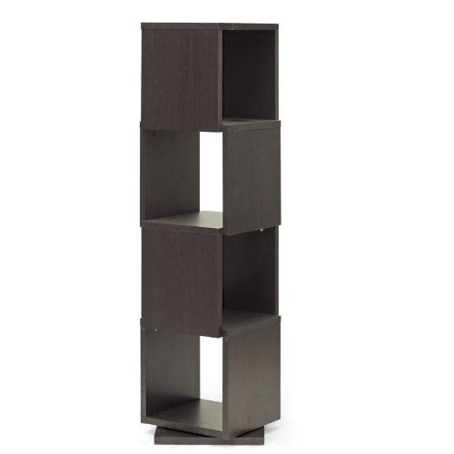 Baxton Studio 4 Level Rotating Bookshelf