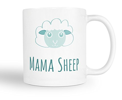 Mama Sheep Coffee Mug - Gift For Mom, Grandma - 11oz White Tea Cup - Novelty Birthday Gift For Women