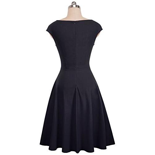 VELJIE Women's Classy 1950s Vintage Rockabilly Swing Dress