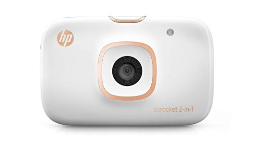 HP Sprocket 2-in-1 Portable Photo Printer & Instant Camera, print social media photos on 2x3' sticky-backed paper (2FB96A) (Renewed)