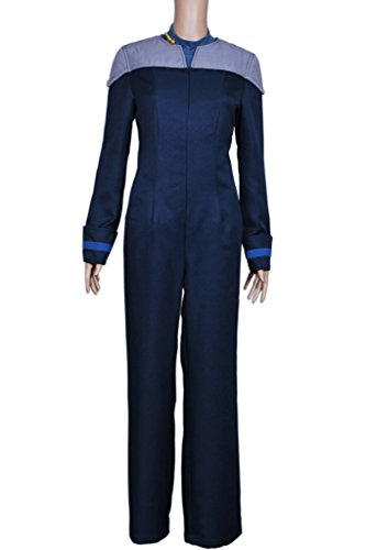 CosplayNow Star Trek TNG Deanna Troi Cosplay Costume Blue Custom (Star Trek Costumes Custom Made)