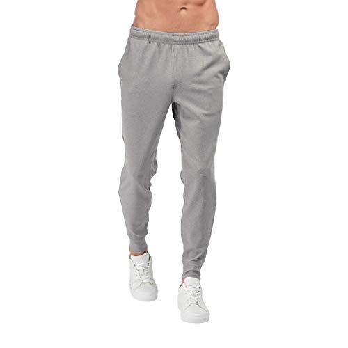 Rhone Mens Spar Tactel Athletic Performance Tapered Jogger Sweat Pants - Light Heather Gray ()