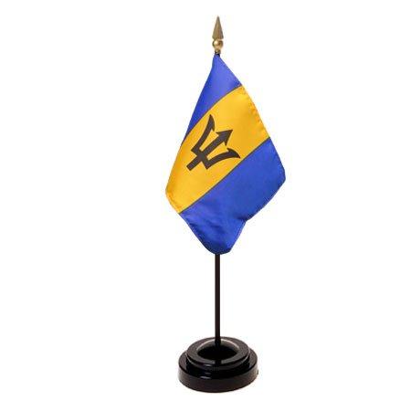 Barbados Flag 4X6 Inch Mounted E Gloss