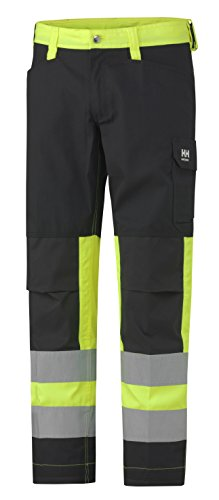 76492_369-C48 Hi-Vis Pants''Alta'' Class 1 Size In C48, Yellow/Charcoal by Helly Hansen