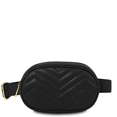 Tuscany Leather TL Bag Marsupio in pelle morbida - TL141699 (Talpa Scuro) Nero