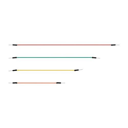 Pack Color de mezcla Cable de soldadura sin soldadura macho a macho Aleatorio Alambres de cable de salto de placa flexible reutilizables y reutilizables 65pcs