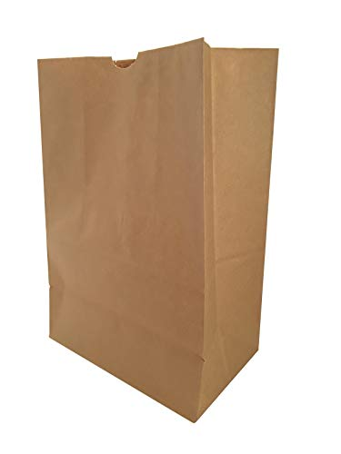 Duro Heavy Duty Kraft Brown Paper Grocery Bag, 57 lbs Basis Weight, 12 x 7 x 17 (40) with Labels