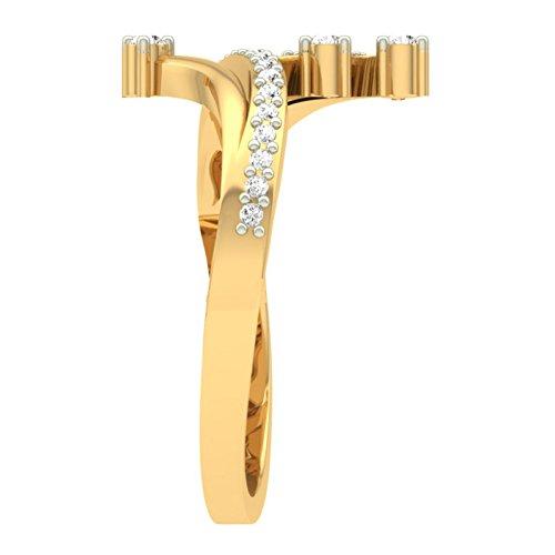 Or jaune 18K 0,32CT TW Round-cut-diamond (IJ | SI) en diamant