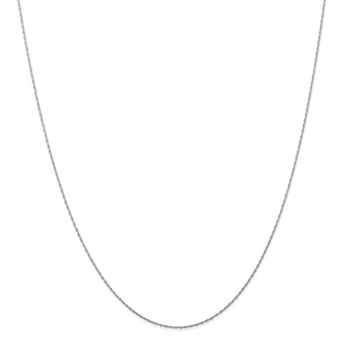 Gold Ice Necklace (ICE CARATS 10kt White Gold .5 Mm Carded Cable Link Rope Chain Necklace 24 Inch Pendant Charm Fine Jewelry Ideal Gifts For Women Gift Set From Heart)