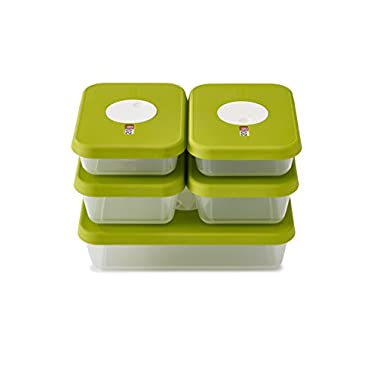 Joseph Joseph Dial Storage 5 Piece Rectangular Container Set, Green