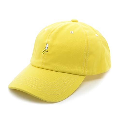 PT FASHIONS Baseball Cap Mesh Back Fruit Embroidered Women Men Unisex Adjustable Outdoor Banana Yellow