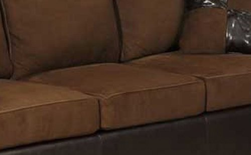 Bobkona Seattle Microfiber Sofa and Loveseat 2-Piece Set in Chocolate Color