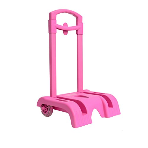 Trolley Cart Hand Cart Aluminium Alloy Folding Wheeled Trolley for Backpack by UEK