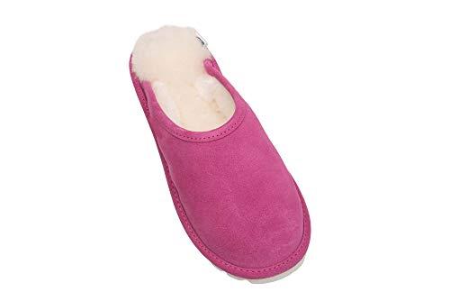 Luxe Rose Chaussons Pantoufles de Laine Femmes avec Mouton Peau D68P Chaud Doublure Vogar 75qxFw