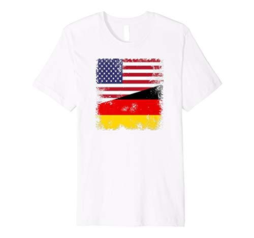 Half German Flag T-Shirt | Vintage Germany USA