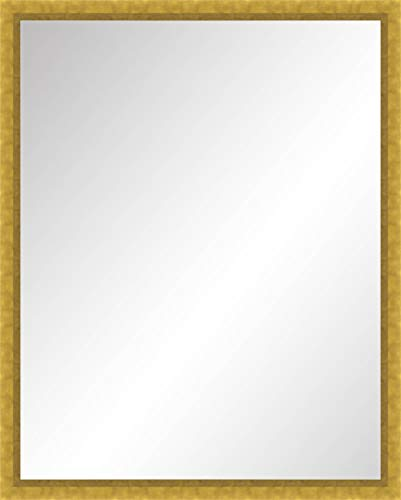 Large Vertical Wall Mirror in Gold Gilded Wood Frame - Size 24x30 -