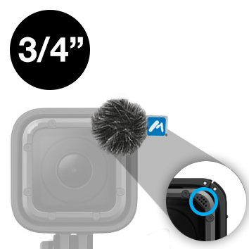 Micover 3/4 Round Stickover Mini Universal Windscreens for DSLR, GoPro, DJI, Phones, Laptops, Built-in Microphones