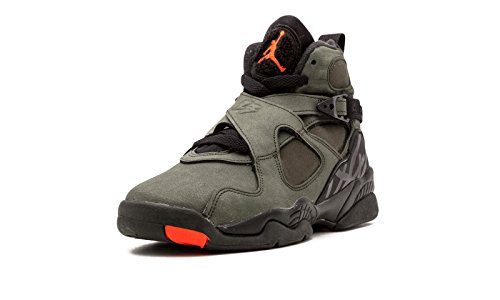 Air Jordan 8 Retro Big Kids (sequoia / max orange-black-dark stucco) Size 6.0 US (Jordan Retro 6 Shoes Size 8)