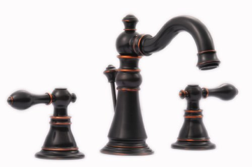 (Oil Rubbed Bronze Victorian Style Widespread Bathroom Sink Faucet )