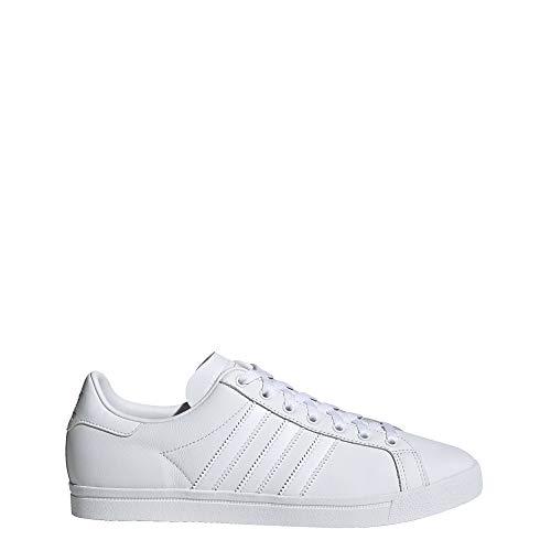 adidas Originals Unisex-Kid's Coast Star Sneaker, White, Grey, 9 Medium US