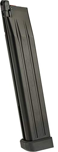 Evike AW Custom Spec 50 Round Green Gas Extended Magazine for HI-CAPA Gas Blowback Airsoft Pistols - Black