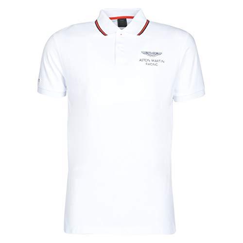 Hackett London Men's AMR Fine Tip Polo Shirt, White