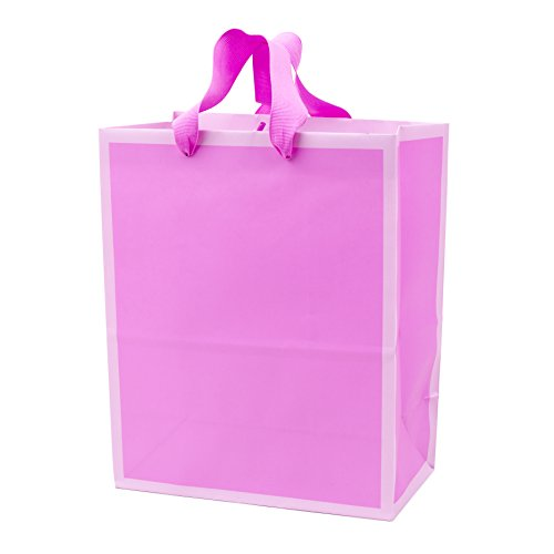 (Hallmark Medium Gift Bag for Birthdays, Baby Showers, Bridal Showers or Any Occasion (Pink-on-Pink Duotone))