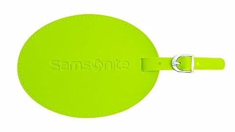Samsonite Large Vinyl Id Tag, Neon Green - En Route Luggage Tag