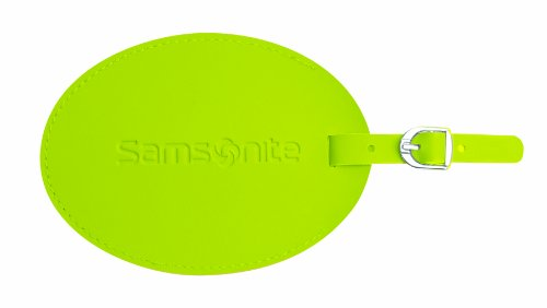 Samsonite Large Vinyl Id Tag, Neon (Green Neon Luggage Tag)