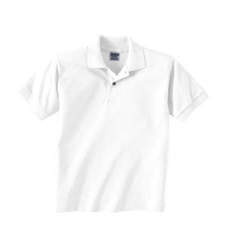 Gildan G8800 Adult 5.6 oz. DryBlend 50/50 Jersey Polo - White - M
