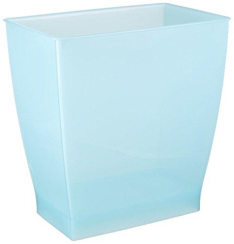 InterDesign Mono Wastebasket Trash Can for Bathroom, Kitchen, Office - Water Blue