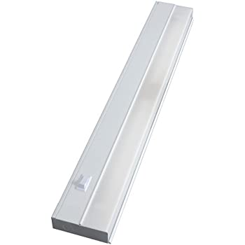 GE Premium Direct Wire 24 Inch Fluorescent Light Fixture, Steel Housing, No Hum, Flicker Free, Instant On, Ideal for Designer Kitchens, Home Offices and Studios, 16687